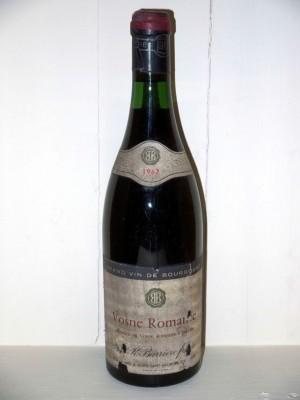 Grands vins Saint-Émilion Vosne Romanée 1967