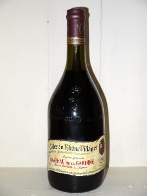 Grands vins Vallée du Rhône Château de la Gardine 1988 Côtes du Rhône Villages