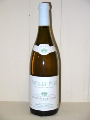 """Grands crus Autres régions Pouilly-Fumé 2004 """"Cuvée du Bois Fleury"""" Domaine Cailbourdin"""