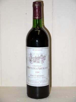 Vins de collection Haut-Médoc Château Moulin d'Arvigny 1990