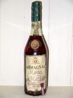 Grand Armagnac  Armagnac 1933 Marquis de Montdidier 1933 en coffret bois