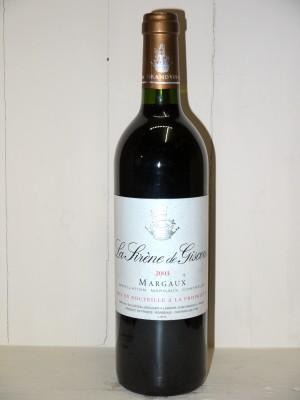 """Château Giscours 2003 """"La Sirène de Giscours"""""""