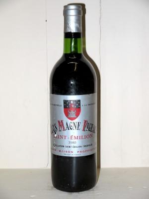 Grands vins Saint-Émilion Clos Magne Figeac 1980