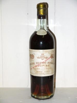 Millesime prestige Bordeaux Château Dauphiné Rondillon 1945