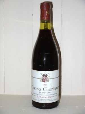Vins grands crus Bourgogne Charmes-Chambertin 1983 Le Savour Club