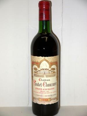Grands vins Saint-Émilion Château Pontet-Clauzure 1962