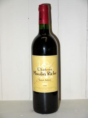 Grands vins Saint-Julien Château Moulin Riche 1998