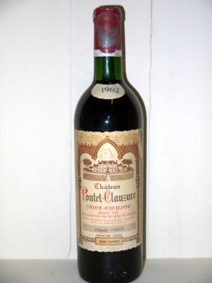 Grands crus Médoc Château Pontet-Clauzure 1962