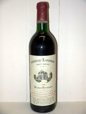 Grands vins Saint-Émilion Château Lanessan 1986