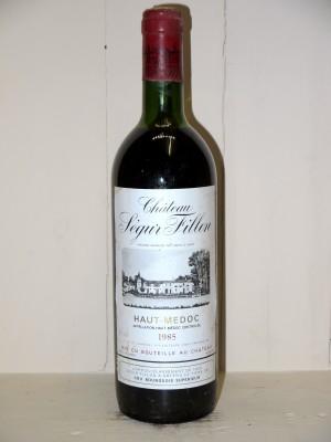Vins anciens Haut-Médoc Château Ségur Fillon 1985