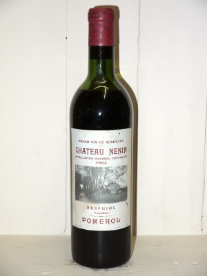 Vins grands crus Pomerol - Lalande de Pomerol Château Nenin 1964