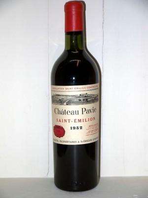 Grands vins Saint-Émilion Château Pavie 1952