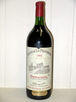 Grands crus Pomerol - Lalande de Pomerol Magnum Château La Providence 1983