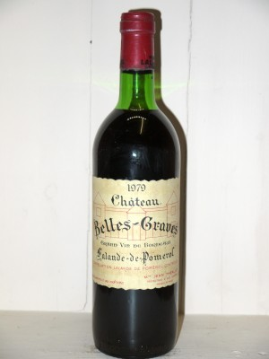 Grands vins Pomerol - Lalande de Pomerol Château Belles-Graves 1979