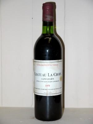 Grands vins Saint-Julien Château La Croix Saint-Julien 1973