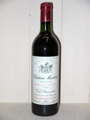 Grands vins Saint-Estèphe Château Montrose 1985