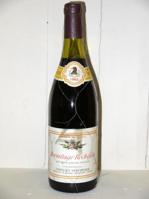 Grands vins Vallée du Rhône Hermitage Rochefine 1982 Jaboulet Vercherre