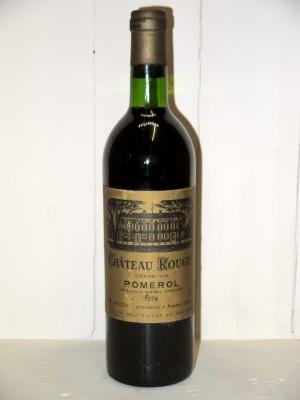Vins grands crus Pomerol - Lalande de Pomerol Château Rouget 1974
