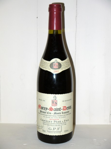 """Morey-Saint-Denis 1er Cru """"Monts Luisants"""" 2002 Grivelet Père et Fils"""