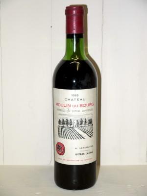 Grands vins Listrac-Médoc - Moulis-en-Médoc Château Moulin du Bourg 1969