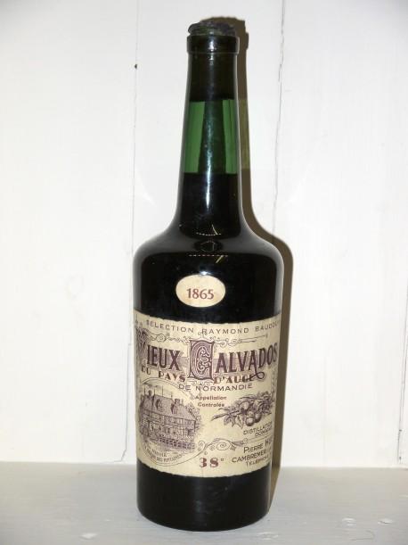 """Vieux Calvados du Pays d'Auge 1865 """"Sélection Raymond Baudouin"""" Domaine Pierre Huet"""