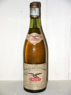 Vins anciens Autres appellations de Bourgogne Pouilly-Fuissé 1959 Calvet