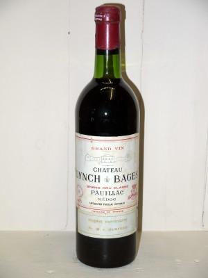 Grands crus Pauillac Château Lynch Bâges 1975