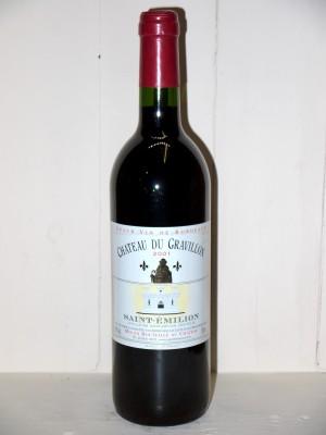 Vins grands crus Saint-Émilion Château Du Gravillon 2001