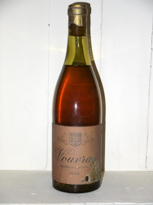 Grands vins Loire Vouvray 1959 Nicolas