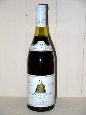 Grands vins Clos Vougeot Clos Vougeot 1981 Pierre André