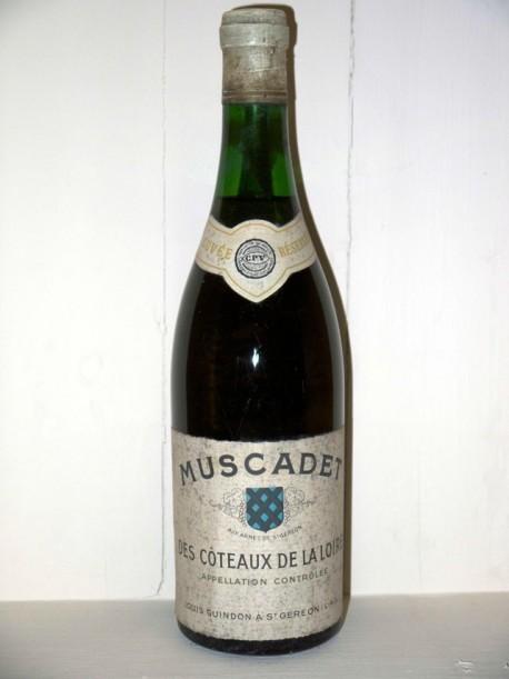 Muscadet des Coteaux de la Loire cuvée réservée présumée année 70