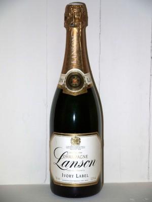 Champagne Lanson Ivory label demi sec cuvée de l'an 2000