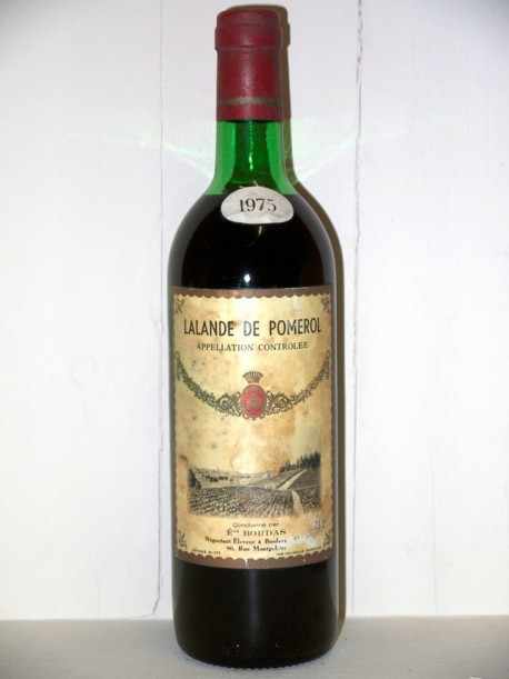 Etablissement Bordas Lalande de Pomerol 1975