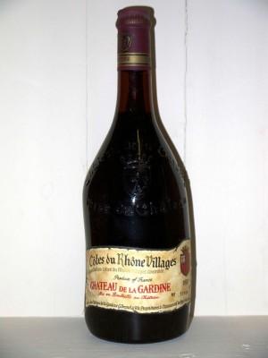 Grands vins Côtes-du-Rhône - Côtes-du-Rhône-Villages Château de la Gardine 1978 côtes du Rhône villages