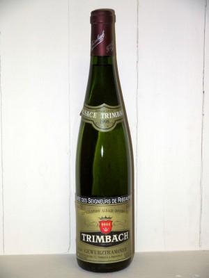 Grands crus Étranger Domaine Trimbach Gewurztraminer cuvée des seigneurs de Ribeaupierre 1998