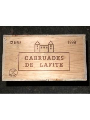 Château Lafite Rothschild Carruades de Lafite 1999 en caisse bois d'origine de 12 bouteilles (cbo)