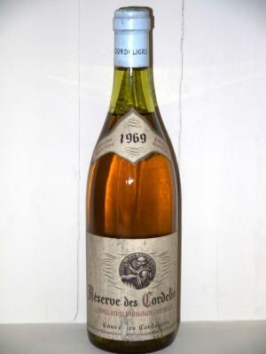 Réserve des Cordeliers 1969 Bourgogne Cave des Cordeliers