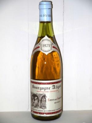 Bourgogne aligoté 1971 Cave des Cordeliers