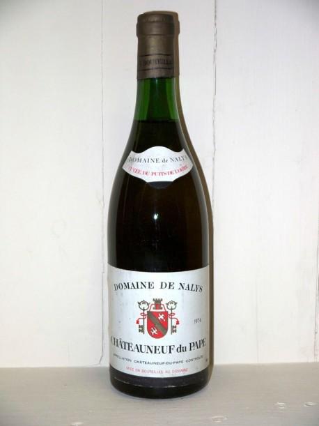 Domaine de Nalys 1974 Cuvée du puits de l'Orme Chateauneuf du Pape