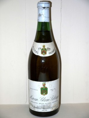 Grands vins Meursault Macon Blanc villages 1979
