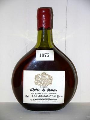 Bas Armagnac 1975 Domaine Clotte de Manon owner Mme de Mandelaêre