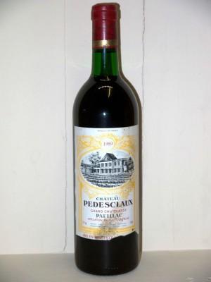 Grands vins Margaux Château Pédesclaux 1989