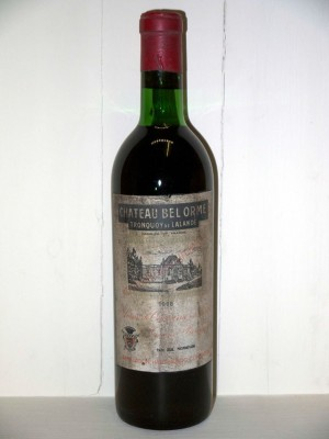 Grands vins Saint-Julien Château Bel Orme Tronquoy de Lalande 1966