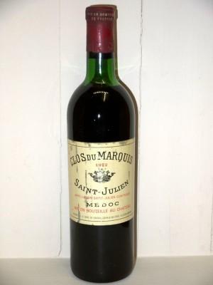 Grands vins Saint-Julien Clos du marquis 1972