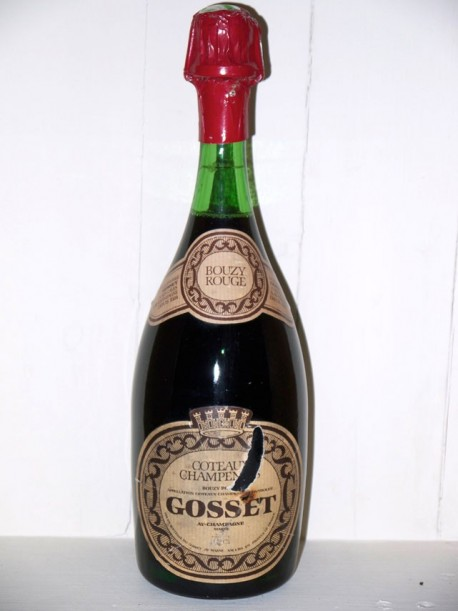 Bouzy rouge Coteaux Champenois Maison Gosset présumé années 70/80