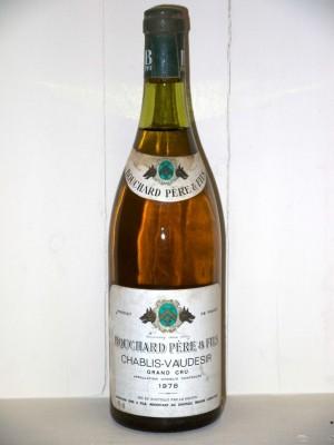 Vins anciens Chablis Chablis-Vaudésir Grand Cru 1978 Bouchard Père et fils