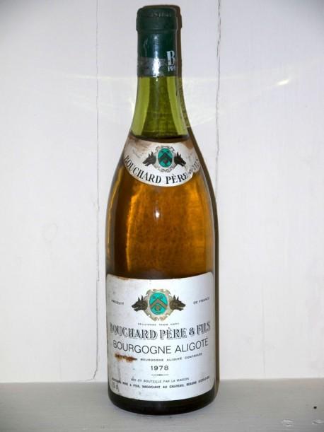 Bourgogne aligoté 1978 Maison Bouchard Père et fils