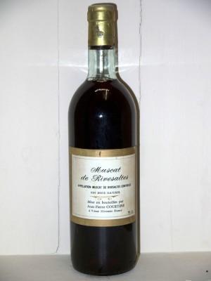Vins de collection Languedoc-Roussillon Muscat de Rivesaltes Maison Jean Pierre Courtine présumé années 70