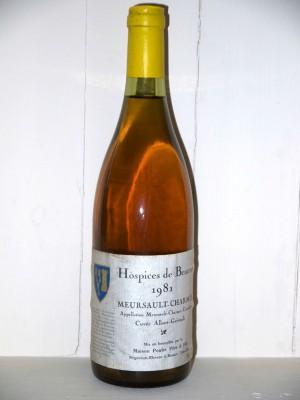 Meursault-Charmes Hospices de Beaune 1981 cuvée Albert-Grivault