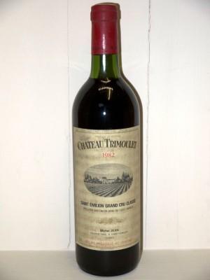 Grands vins Saint-Estèphe Château Trimoulet 1982